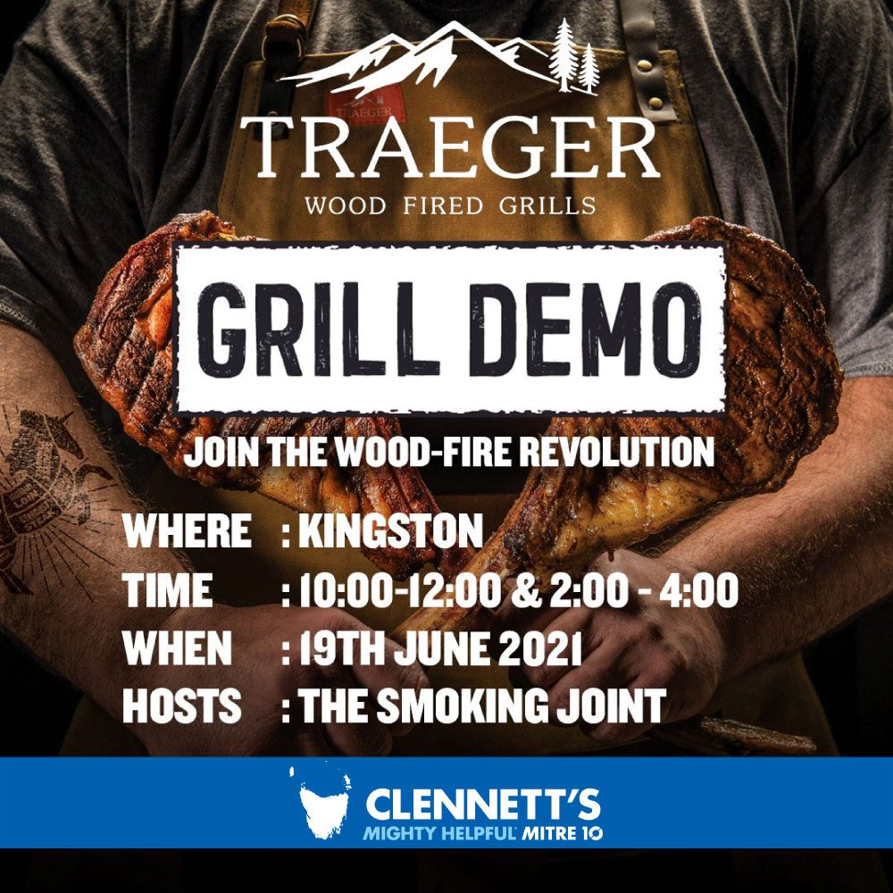 Clennett's Mitre 10 Traeger Grill Demo Event