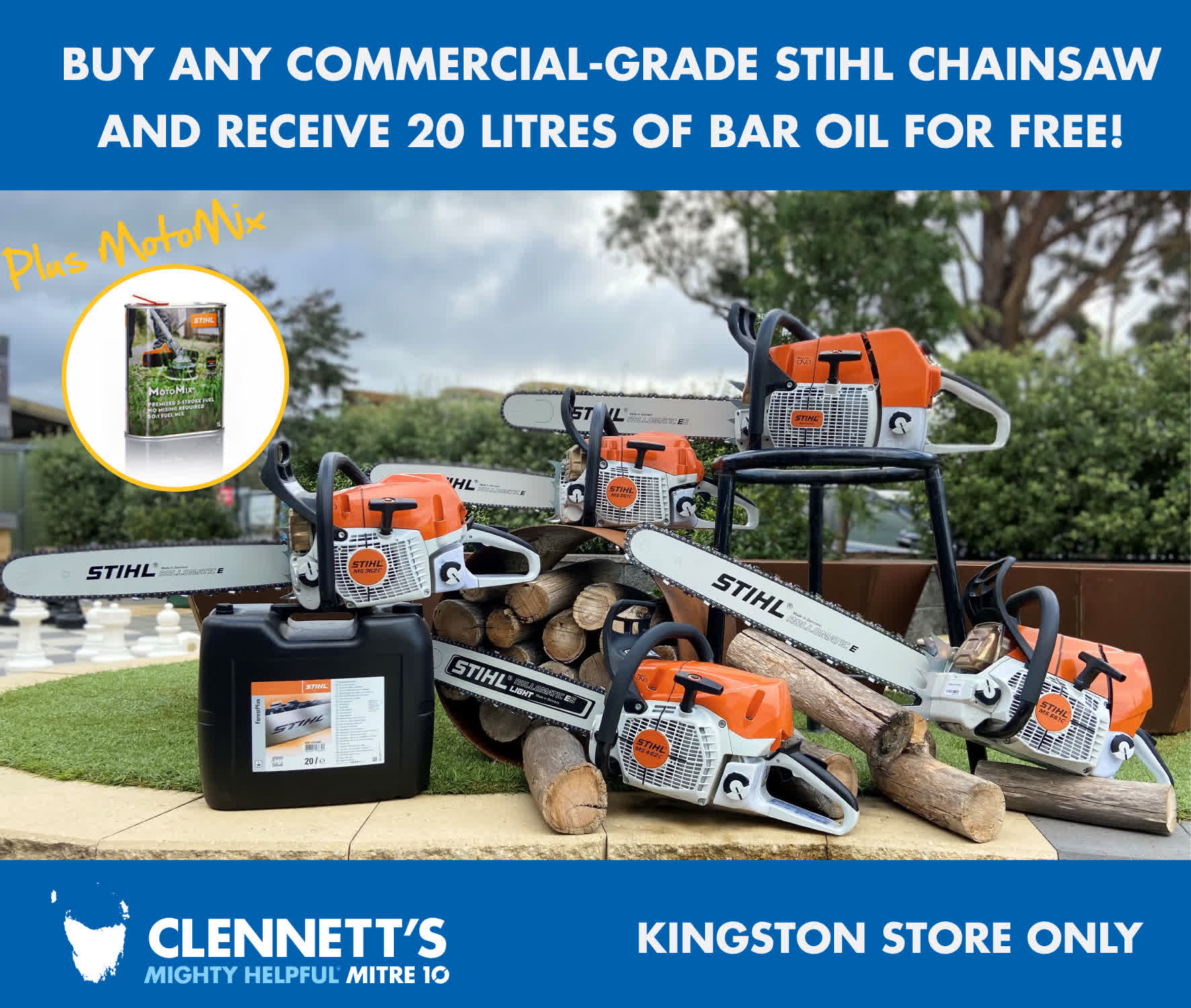 Clennetts Mitre 10 Exclusive STIHL offer