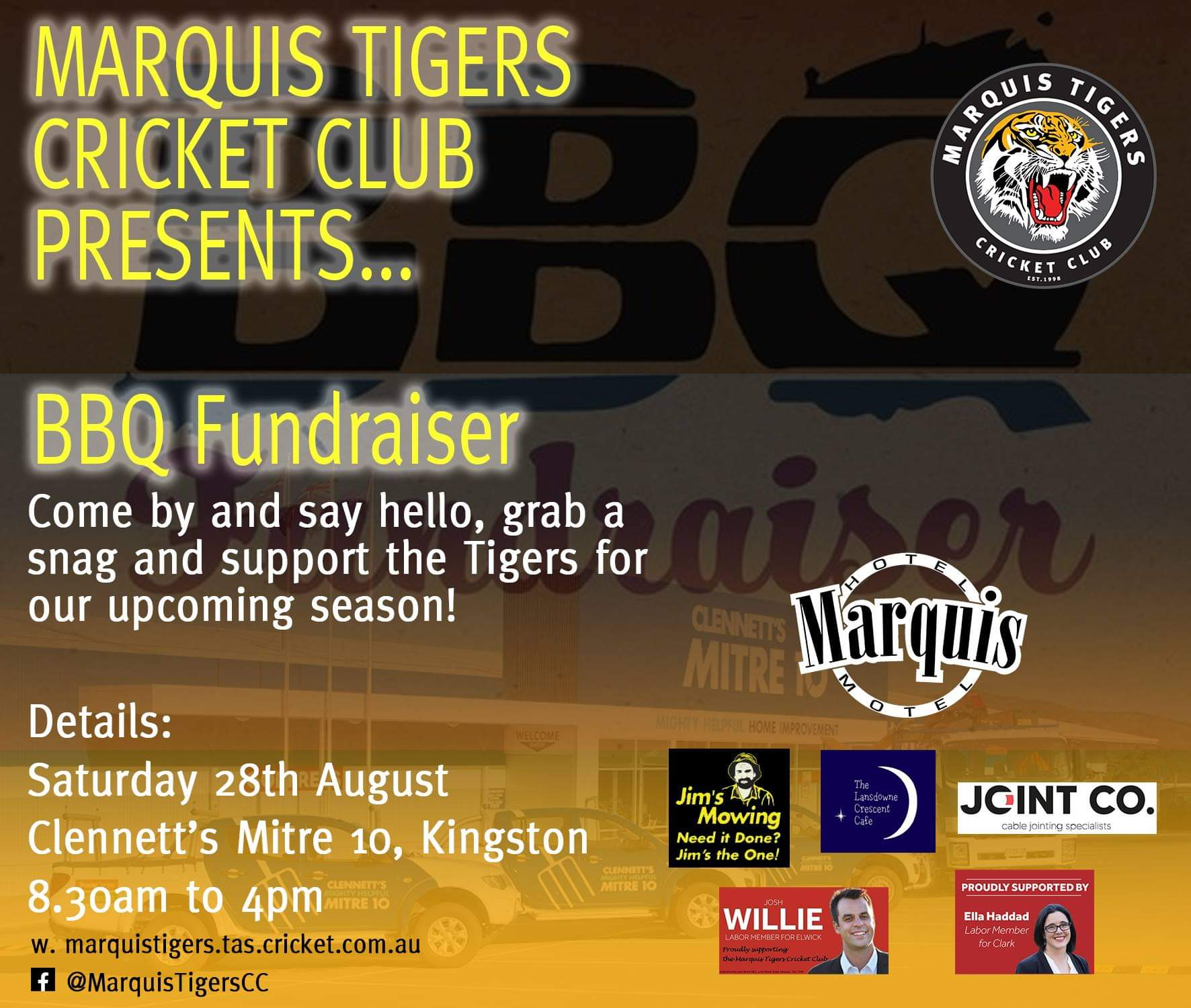 Marquis Tigers Cricket Club at Clennetts Mitre 10