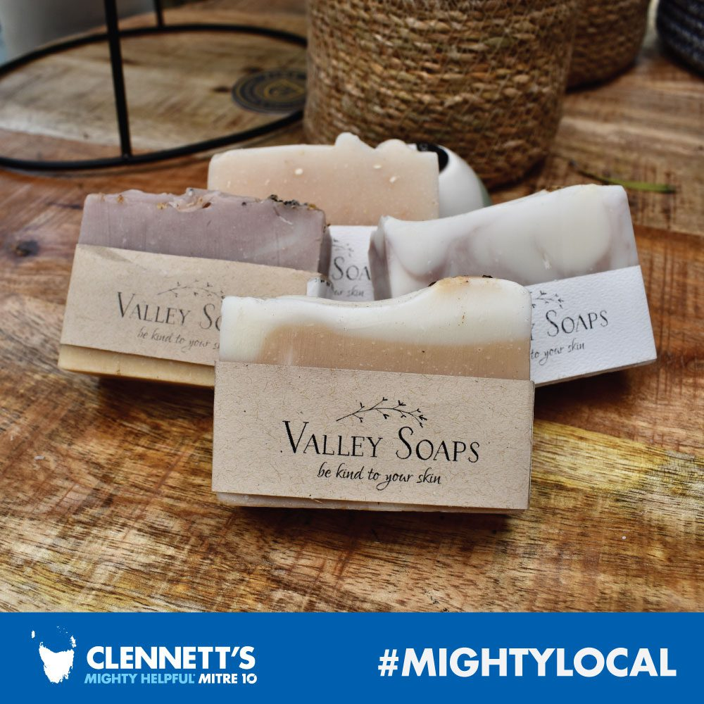 Valley Soaps at Clennetts Mitre 10
