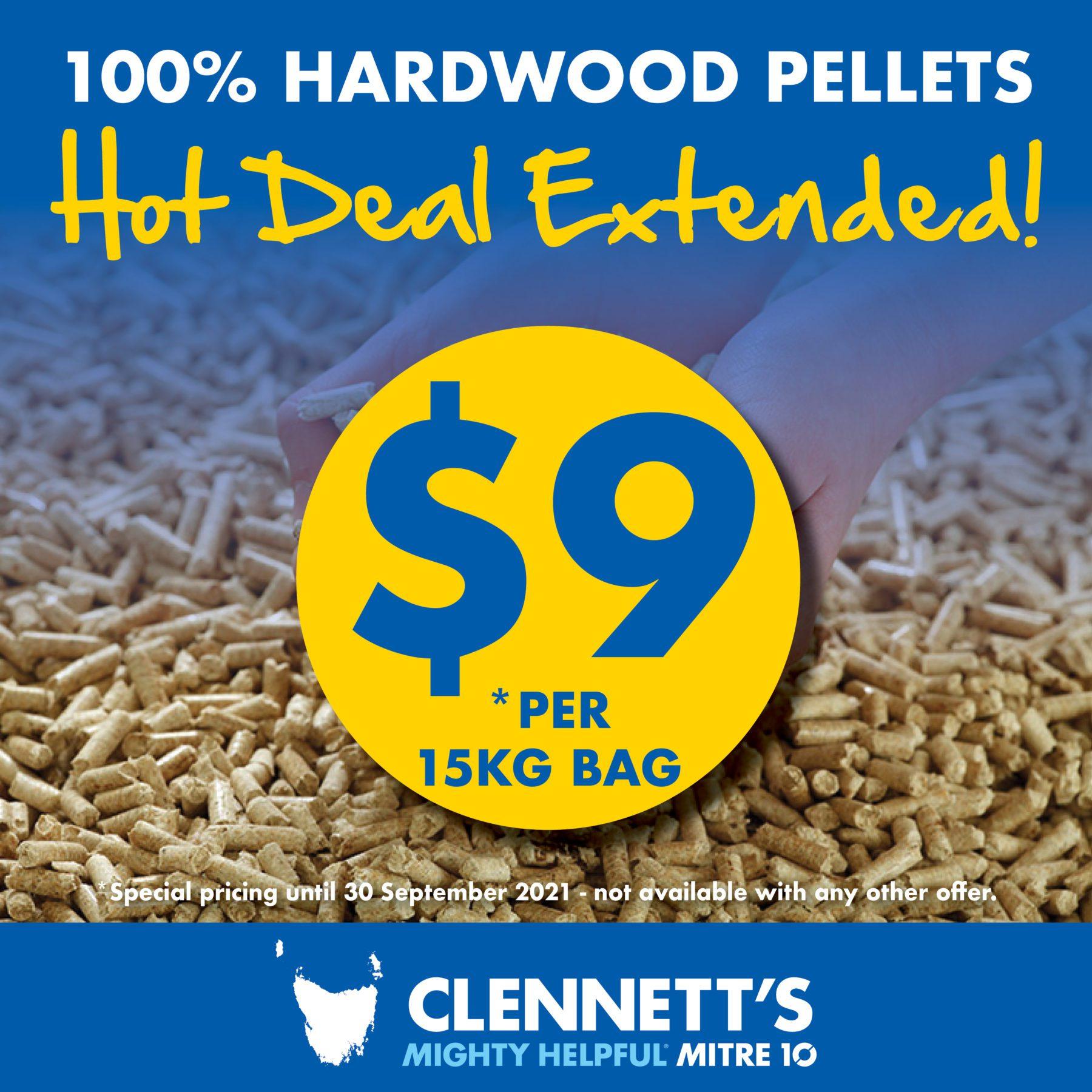 Clennetts Mitre 10 Pellet offer